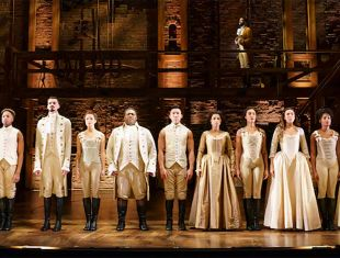 The hit show HAMILTON is at the SHN Orpheum Theatre through January 5, 2020.