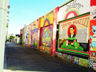 The Mission District is a virtual outdoor art gallery full of vibrant murals depicting themes ranging from cultural heritage to social political statements.