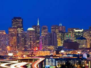 San Francisco's sparkling skyline shines this time of year.